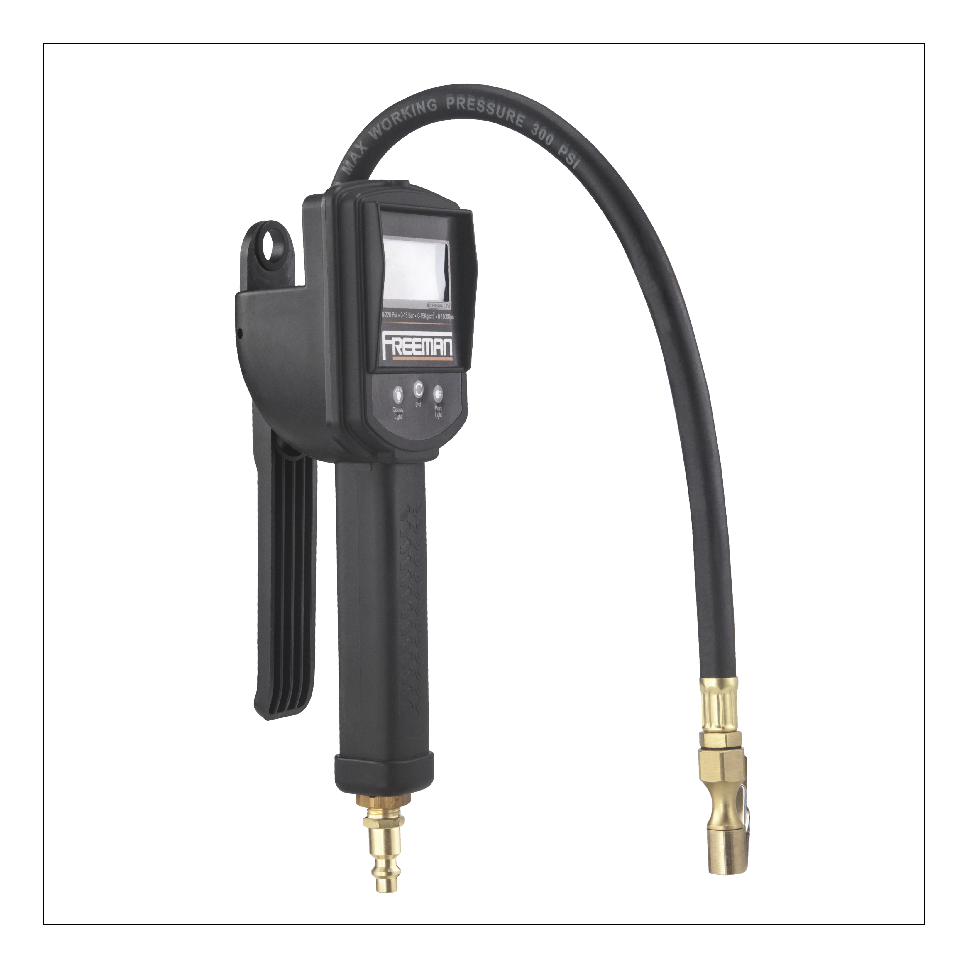 Digital Tire Inflator With LCD Pressure Gauge and Work Light