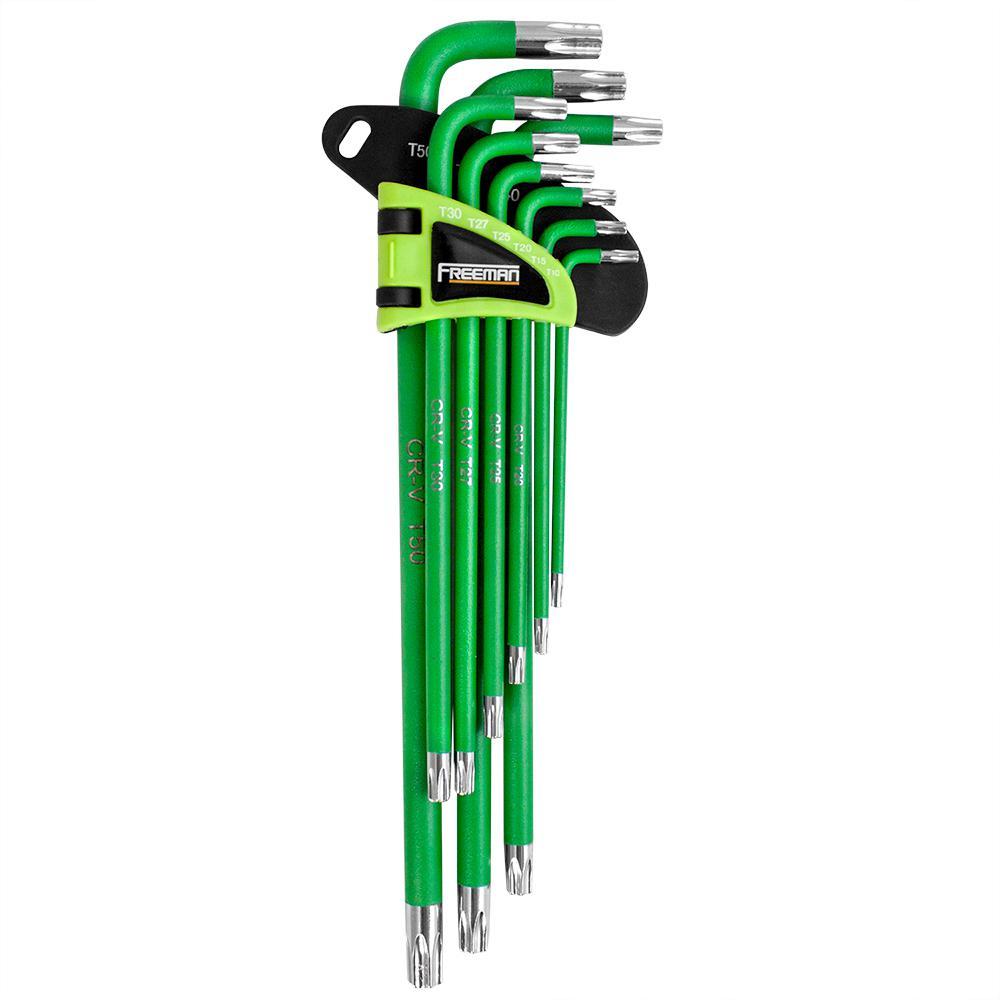 Freeman P9LTKS 9Piece Extra Long Arm Torx Key Set Prime Global Products