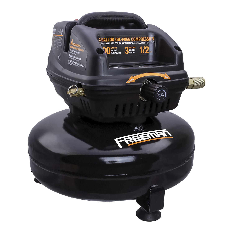 3 Gallon 1 2 Hp Portable Electric Oil Free Pancake Air Compressor Freeman Tools